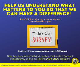 First Ever National Impact Survey Launched By Neighbourhood Watch